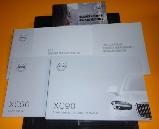 2019 VOLVO XC90 OWNERS MANUAL SET 19 XC 90 GUIDE w/case T5 ...