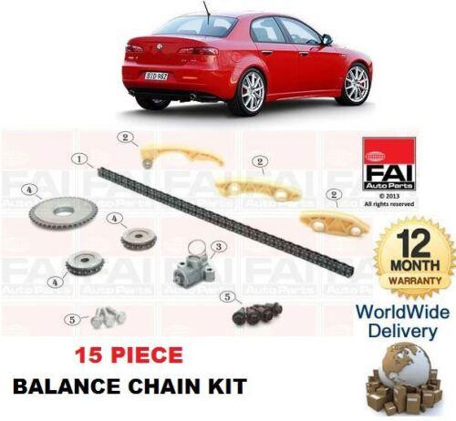 Para Alfa Romeo 159 1.9 2.0 Diesel Stc 2005 /& gt equilibrio lado calendario Cam Kit De Cadena