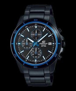 Details about EFR-526BK-1A2 Black Blue Men s Watches Casio Edifice  Chronograph 100m New 818f27130b