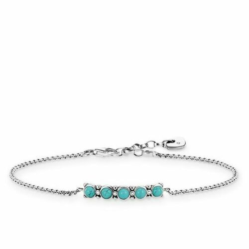 "diamante d/_a0015-357-17-l19v 925//- Sterling plata Thomas Sabo pulsera /""ethno/"""