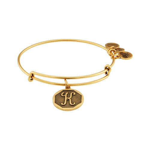 Alex And Ani Initial K Expandable Wire Bangle Bracelet 2 5 Inch Rafaelian Gold For Online Ebay