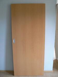Details Zu Schiebetur Innentur Zimmertur Buche Dekor 73 5x198 5 Vor Der Wand In Der Wand