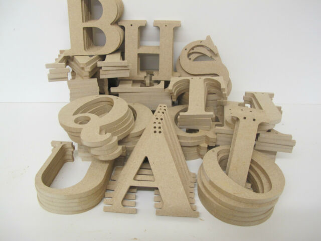 Wooden Bunting Letters Premium Quality 95mm High 6mm Thick Times Font