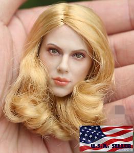 1//6 Black Widow Scarlett Johansson HEAD SCULPT FOR HOT TOYS PHICEN Figure ❶ USA ❶