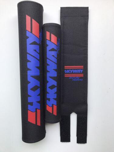 Skyway Bmx Pad Set Oldschool REPOP Kuwahara Blk//Red//blue PK Ripper Tange