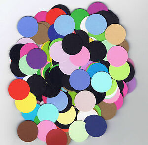 300-Circle-Die-Cuts-1-034-Assorted-Colors-Cardstock-Paper-Circles-Punchies-Punched