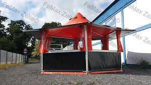 Partyzelt-Marktstand-Verkaufsstand-Grillstand-16-3m-Orange-schwarz