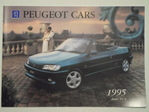 Peugeot Range Orig 1995 Uk Mkt Sales Brochure 106 205 306 405 605 Ebay