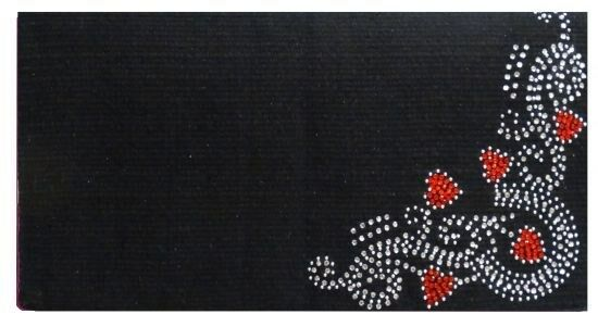 Showman 38 x34  Woven New Zealand Wool Saddle Blanket w  RED Heart Rhinestones
