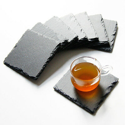Natural Slate Coaster Square Coffee Table Mug Drinks Cup Mats Coaster Placemats