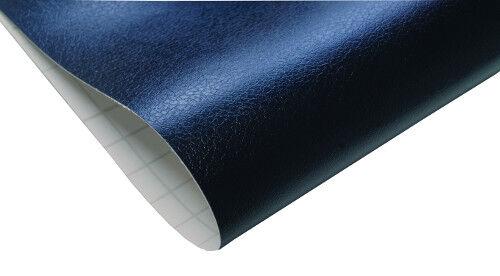14,91€//m² PVC Lederfolie schwarz 150 x 152 cm selbstklebende Dekor Möbel Folie