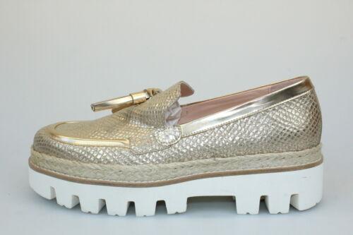 scarpe donna SERGIO CIMADAMORE 40 mocassini platino pelle DP37