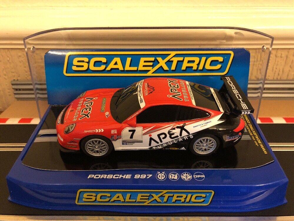 Scalextric Porsche 997 GT3 Cup Glynn Geddie Apex Motorsport No7 C3182 BNIB
