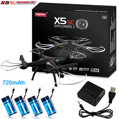 Syma X5sc 2.4Ghz explorers Headless Mode 6 Axis 4CH RC Quadcopter RTF 2MP Camera