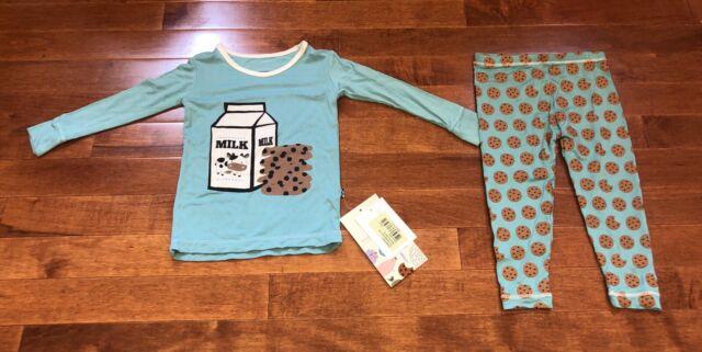 Kickee Pants Boy Pond Crocodile Long Sleeve Shirt /& Pants Pajamas New Size 9