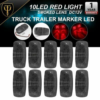 Partsam 20Pcs 2 Inch Round Beehive Cone led Side Marker and Clearance Lights Rear Tracking Lights 9 Diodes Sealed Truck Trailer RV Camper Led Marker Lights Waterproof 12V 10Amber+10Red
