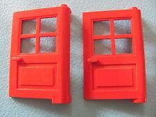 LEGO 3861 (x2) @@ Door 1 x 4 x 5 4 Panes @@ RED  374 1966 6364 6383 6494 10014