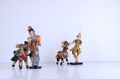 4 Bambole Vintage, Etniche, Con Costume. Uomo, Donna, Asino Ed Elefante. Irrestringibile
