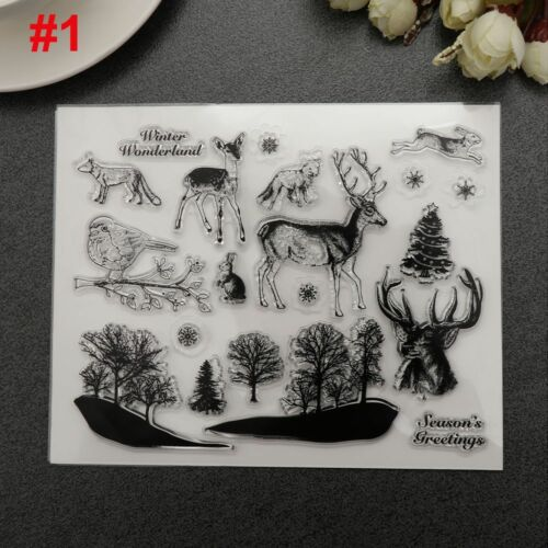 DIY Crafts Cards Deer Transparent Stamps Silicone Rubber Scrapbooking