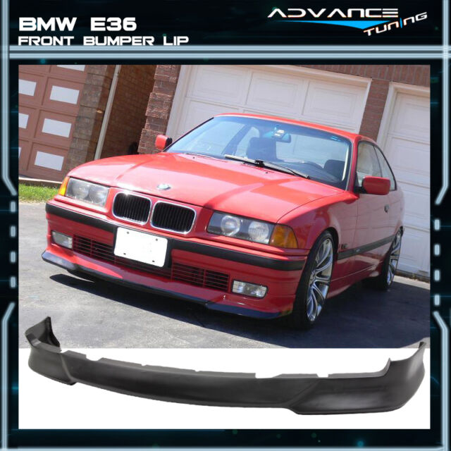 92-98 BMW E36 3 Series M Tech Msport Style Front Bumper Lip Unpainted - PU