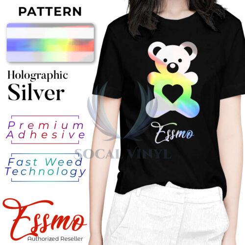 Essmo™ Holographic Silver Heat Transfer Vinyl Rainbow HTV TShirt Iron Press SP16