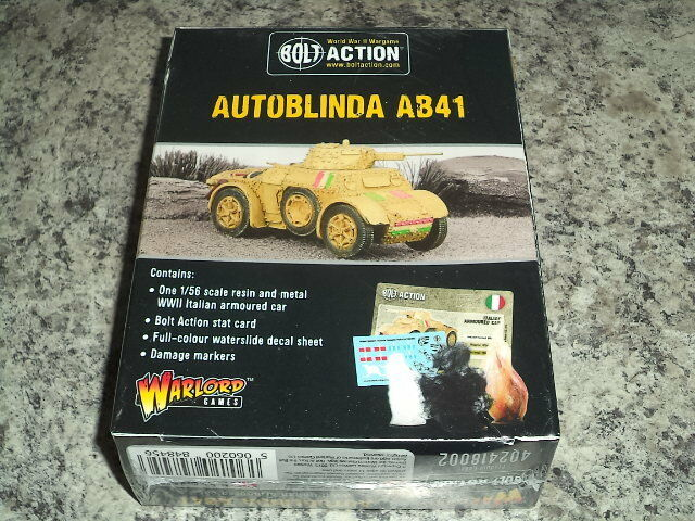 Italian Army Autoblinda AB41 Bolt Action WWII Warlord Games 1 56 Model New
