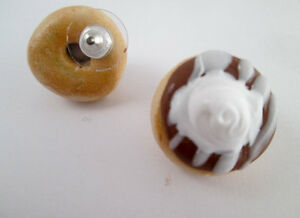 Handmade Polymer Clay Donut Earrings