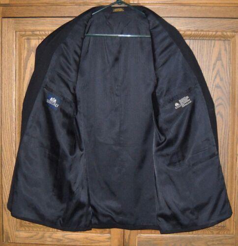 Stafford Black Taglia Regular Piece Men's Wool 44 2 Suit Button dpdaq