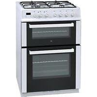Iq 60cm Double Oven Dual Fuel Cooker - White