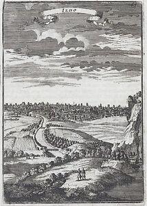 1683 Japan View of Edo Yedo Jedo Yeddo Tokyo 17th Century Print Mallet