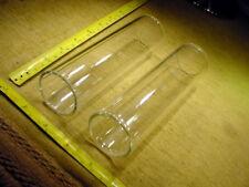 2 x Glasrohr Ø aussen 45 mm , Ø innen 37 mm , ca 16 cm lang , Glaszylinder