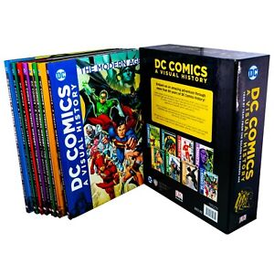 DC-Comics-A-Visual-History-8-Books-Box-Set-Children-Collection-By-DC-Comics