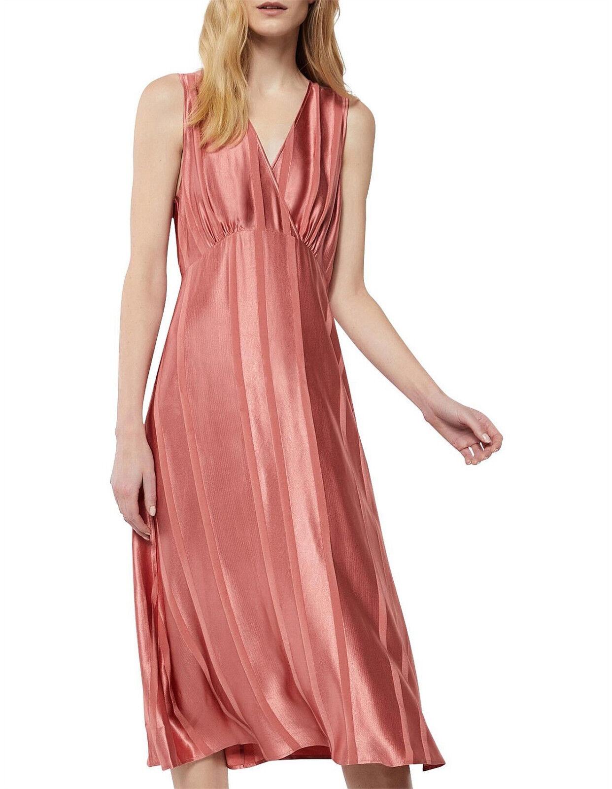NEW NWT  WITCHERY Crotver Gatherot Midi Dress   Rich Rosa  10 12 14 16