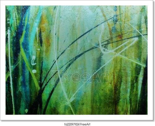 Poster Home Decor Wall Art Green Abstract Texture Art//Canvas Print