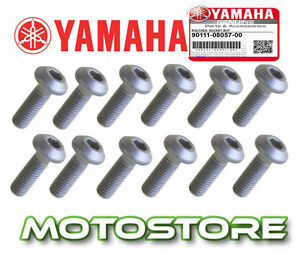 GENUINE-FRONT-DISC-ROTOR-MOUNT-BOLTS-SCREWS-SET-YAMAHA-FZS600-FAZER-1997-2003