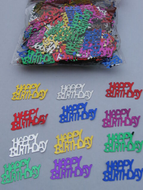 Multi Coloured Happy Birthday Foil Confetti Table Scatters