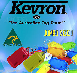 "Kevron Key Tags - "" GIANT LARGE "" Bulk Lot ( x25 Tags )"