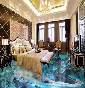 3D Delfín Mar Azul 954 Impresión De Parojo Murales Papel de parojo de piso AJ Wallpaper Reino Unido Limón