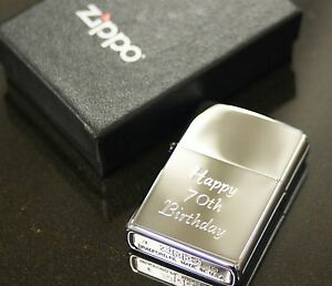 Image Is Loading Personalised Genuine Zippo Lighter Engraved Free Usher Best