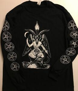 BAPHOMET-Longsleeve-T-shirt-Satanic-Clothing-Satan-Satanism-EVIL-pentagram-S-XL