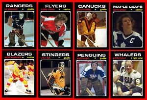 RETRO-1970s-NHL-WHA-High-Grade-Custom-Made-Hockey-Cards-U-PICK-Series-2-THICK