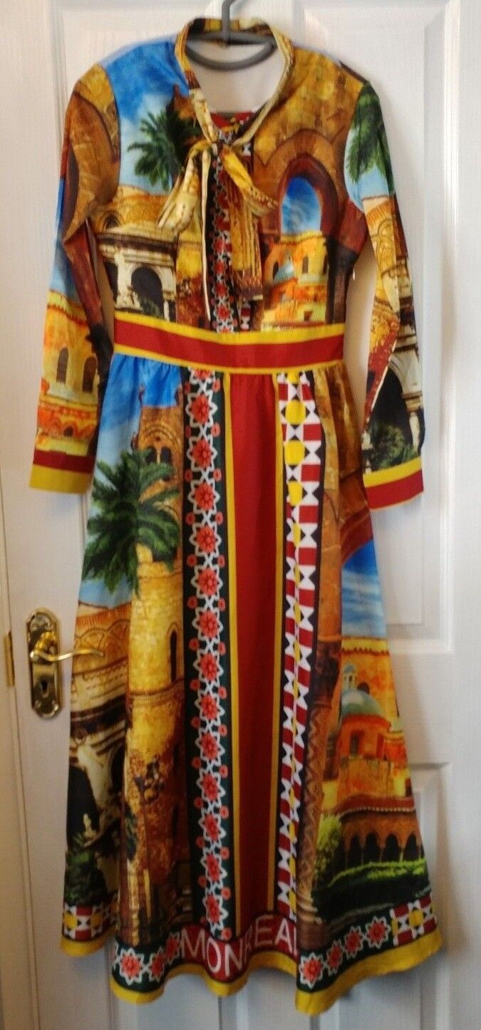 New never worn Ferraga Multicolour Maxi Dress UK size 6-8 (Small)