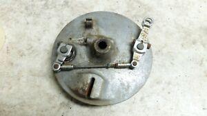 72 Suzuki T350 T 350 Rebel front brake hub drum plate
