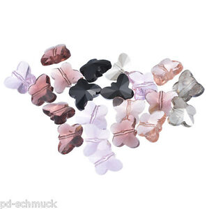 P-D-30-Mix-Schmetterling-Glasperlen-Beads-15x12mm-fur-Halskette