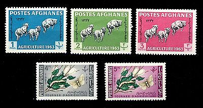 Punctual Afghanistan Agriculture Issue 1963 Mi.738a/42a Neufs/mint Never Hinged ** Skilful Manufacture