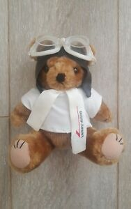 British-Airways-Airplane-Pilot-Vintage-Teddy-Bear-Crawley-Sussex-England-FREE-P-amp