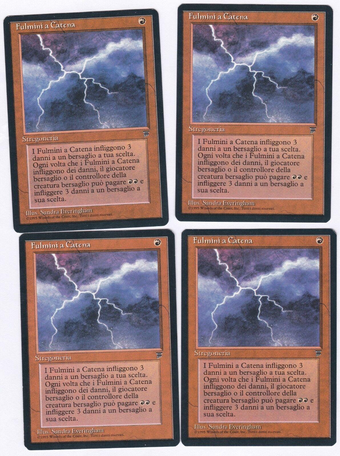 SALE  4X Magic Magic Magic The Gathering (MTG)  FBB ITALIAN Chain Lightning NM NEVER PLAYED  8bacc8