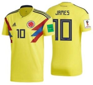 Sports Mem, Cards & Fan Shop Responsible Adidas Colombia Blue Fifa World Cup James Rodriguez #10 Soccer Jersey Size Small