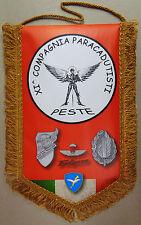 """Gagliardetto """"11° COMPAGNIA PESTE - 186° RGT. PARACADUTISTI FOLGORE"""" - (Rarità)"""