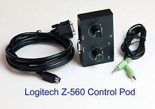 Logitech Z-560 Computer Speakers Control Pod Replacement New Black Version z 560